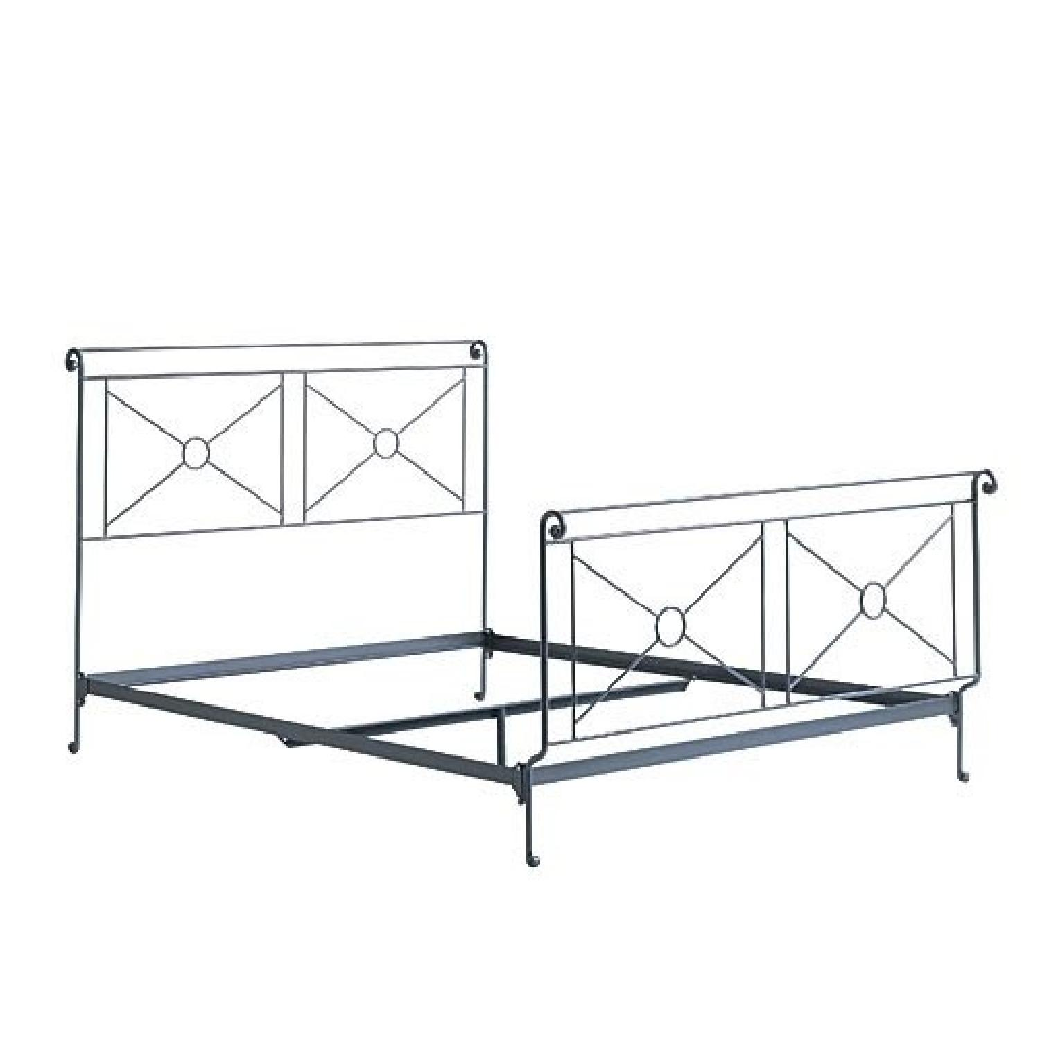 Charles P. Rogers Queen Size Campaign Bed-3