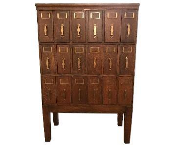 Library Bureau Antique Judge's Cabinet