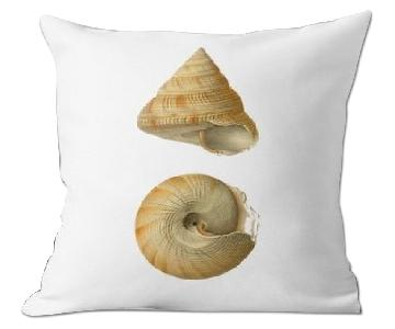 Flora and Fauna Shells 1 Marine Illustration Pillow