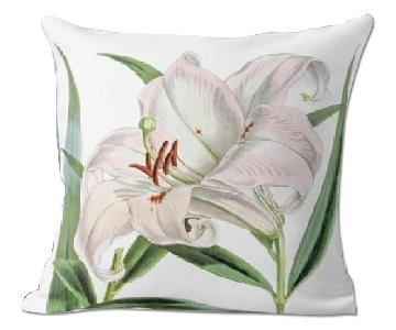 Flora and Fauna Tiger Lily Curtis's Botanical Magazine Pillow