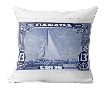 Canada Boat 13 Cents Stamp Pillow