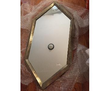 Deco Style Vintage Gold Diamond Mirror