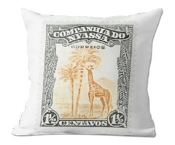 Companhia Do 1 1/2 Centavos Stamp Pillow