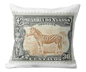 Companhia Do 30 Centavos Stamp Pillow