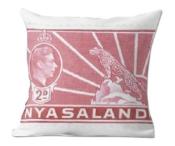 George VI Stamp Carmine Nyasaland 1938 2D Pillow