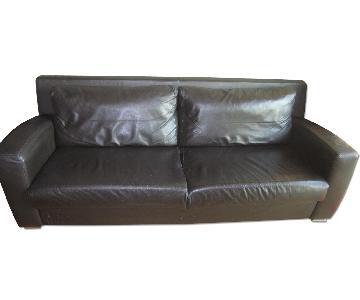 BoConcept Brown Leather Sofa
