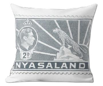 George VI Stamp Grey Nyasaland 1938 Pillow