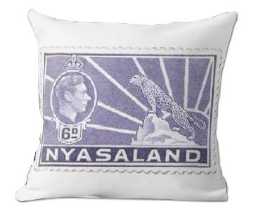 George VI Stamp Purple Nyasaland 1938 Pillow