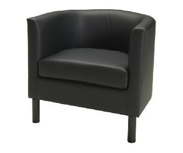 Ikea Solsta Olarp Black Armchair
