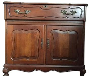 Antique Wooden Bar Cabinet
