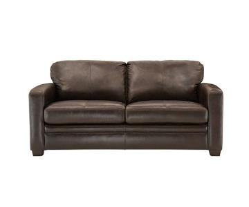 Raymour & Flanigan Leather Sleeper Sofa & Storage Ottoman