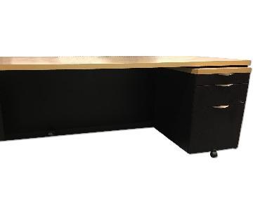 Groupe Lacasse 2 Desks + 2 File Cabinets