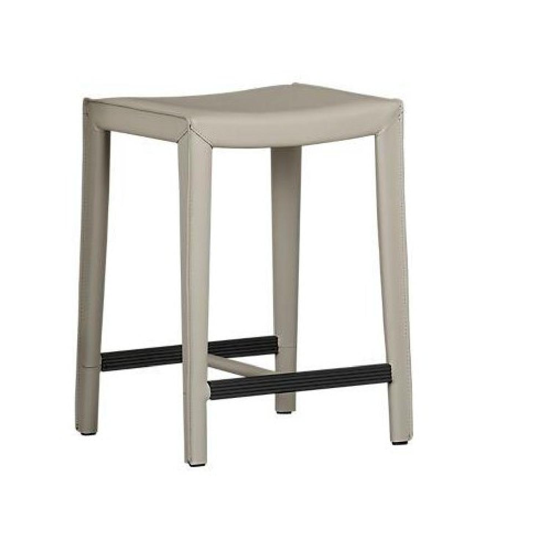 Crate & Barrel Era Rectangular Glass Coffee Table AptDeco