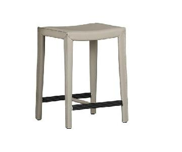 Crate & Barrel Leather Counter Stools