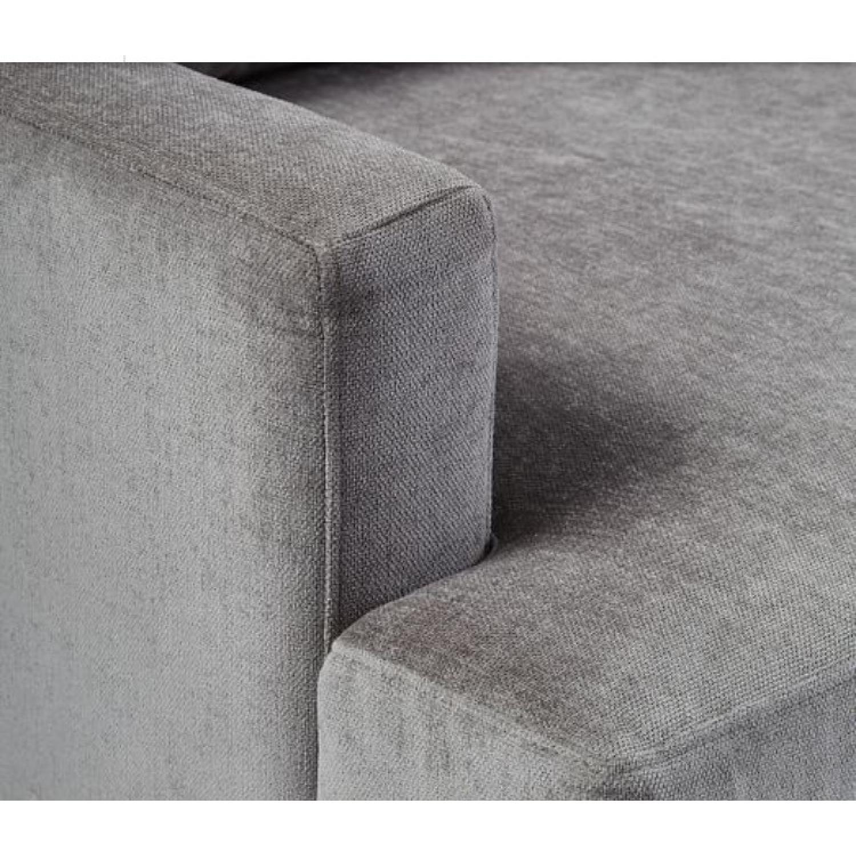 West Elm Andes Sofa in Grey Velvet AptDeco