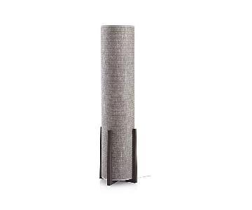 Crate & Barrel Weave Greige Floor Lamp