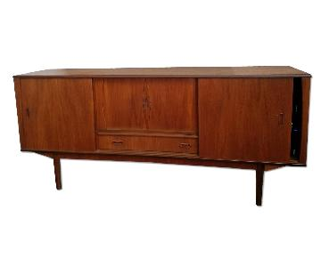 Mid Century Wood Credenza/TV Stand