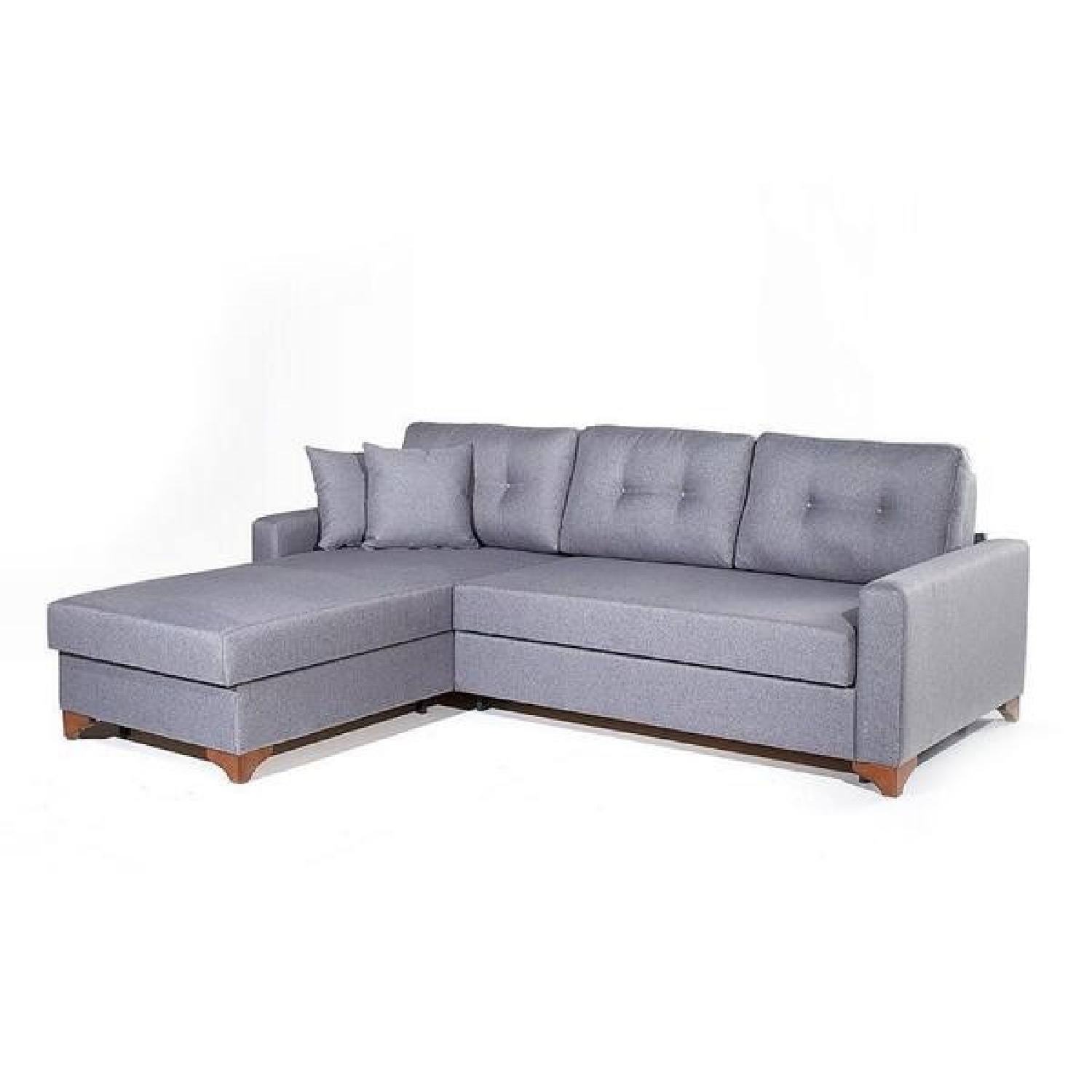 Sleeper Sectional Sofa w Storage AptDeco