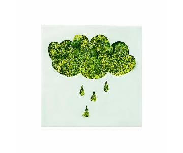 Flowerbox Wall Gardens Rain Cloud Moss Wall Decor