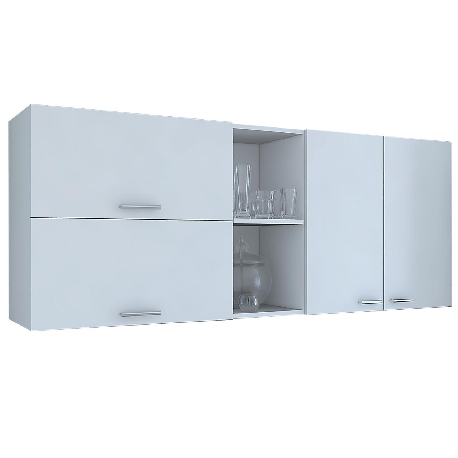 RTA Design Opra Collection 3-Doors Wall Cabinet in White