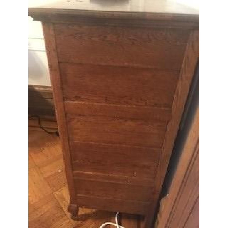 Antique Oak Refinished Bonnet Dresser-3