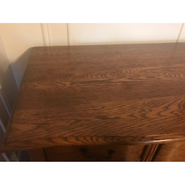 Antique Oak Refinished Bonnet Dresser-4