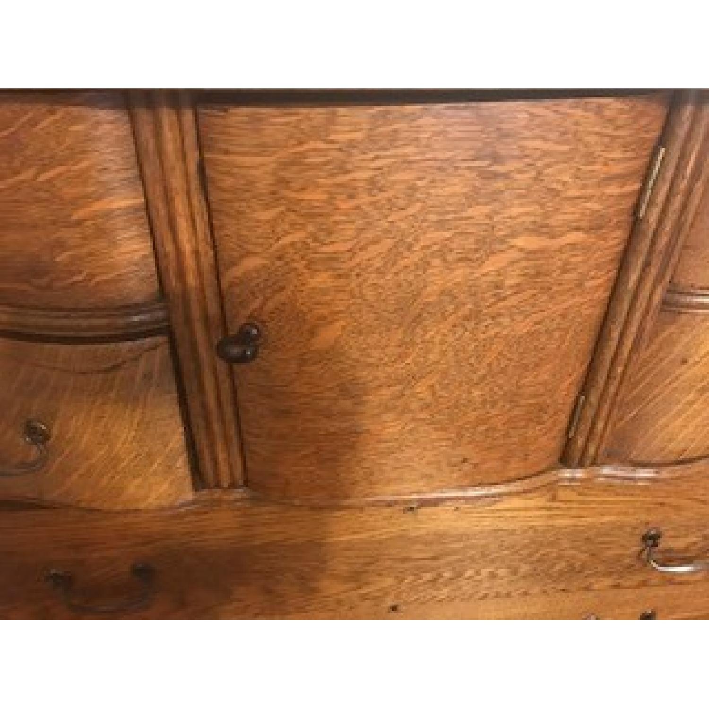 Antique Oak Refinished Bonnet Dresser-5