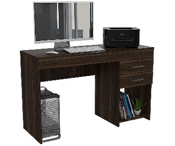 RTA Design Ibare Collection 2-Drawers Computer Desk in Ocher
