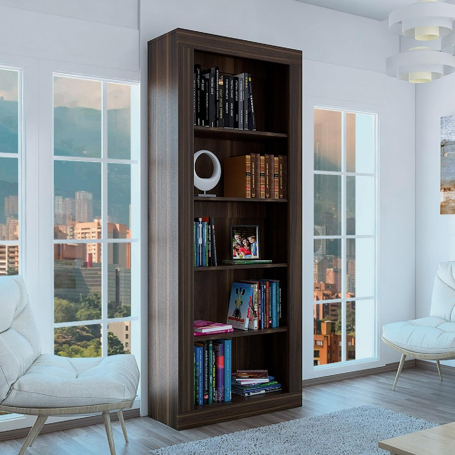 RTA Design Andean Collection 5-Shelves Bookcase in Ocher-0