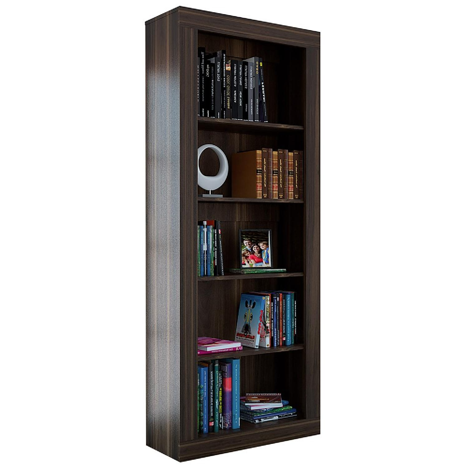 RTA Design Andean Collection 5-Shelves Bookcase in Ocher