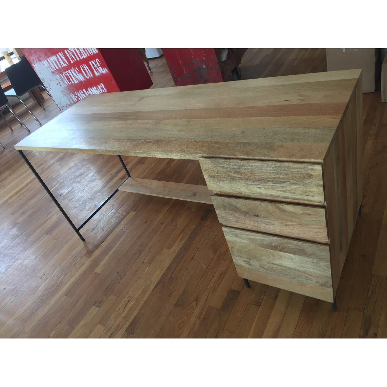 Reclaimed Mango Wood Desk-0