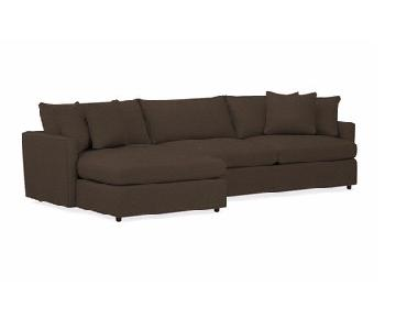 Crate & Barrel Lounge 2 Piece Sectional w/ Right Chaise