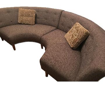 West Elm Crosby Banquette Sectional Sofa