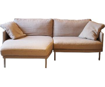 Design Within Reach Camber Sectional Sofa in Lama Tweed