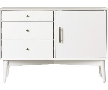Langley Street Easmor White TV Stand