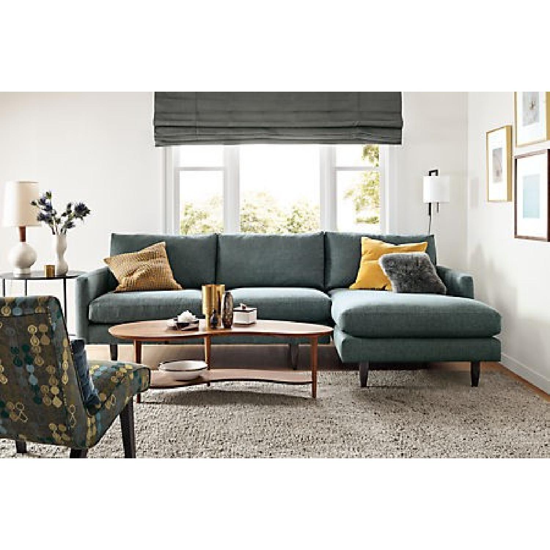 Room Amp Board Jasper Sofa W Chaise In Grey Blue Aptdeco