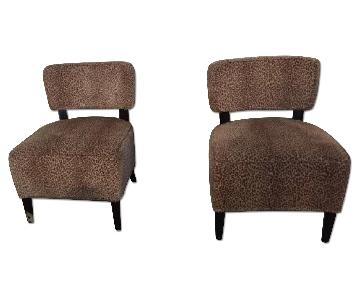 Pier 1 Leopard Print Upholstered Accent Chairs
