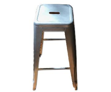 Tall Galvanized Stackable Steel Stool