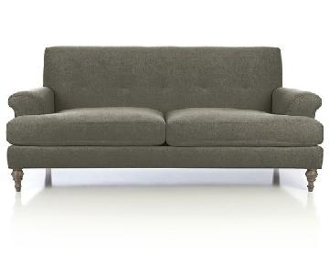 Crate & Barrel Camilla 2 Seat Sofa w/ Pillows