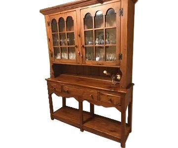 Ethan Allen 10 Piece Wood Dining Room Set