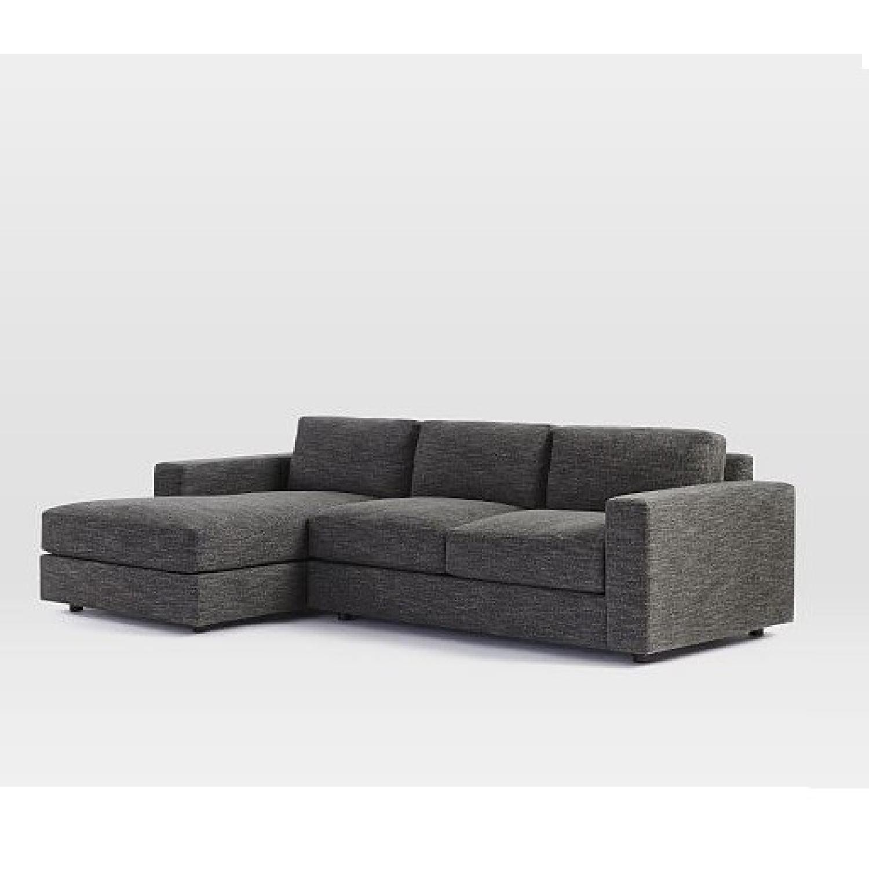 Gus Modern Jane Bi Sectional Sofa w Stainless Steel AptDeco