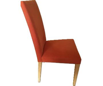 Andreu World Burnt Orange Fabric Dining Chairs
