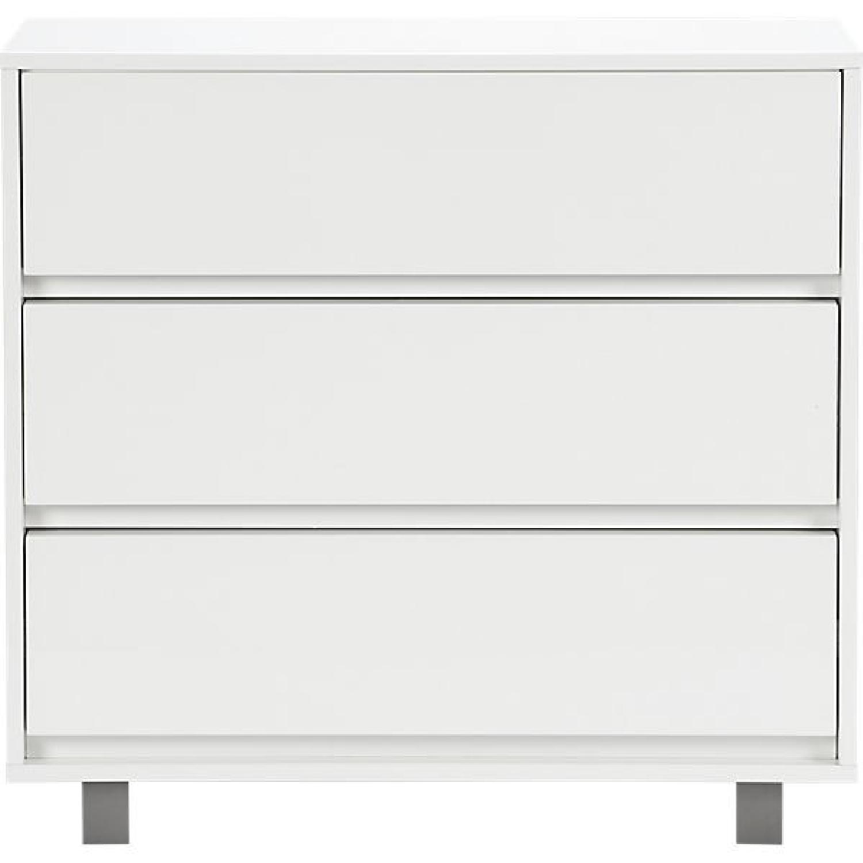 CB2 White Shop 3 Drawer Dresser