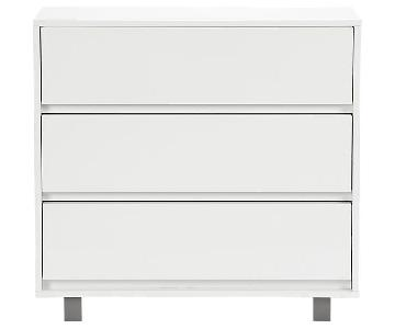 CB2 White Shop 3 Drawer Dresser