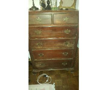 Wood 6 Drawer Dresser
