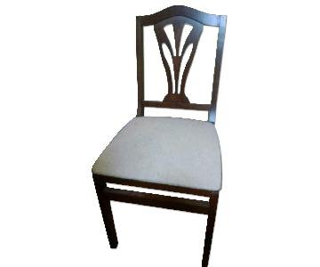 Stakmore Traditional Wood Upholstered Folding Chairs