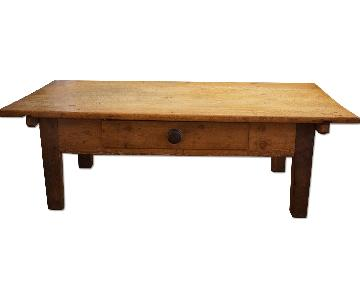 19th Century Rustic Country House Coffee Table