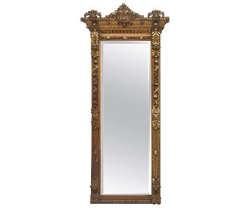 Gold Gilded Floor/Mantle Mirror