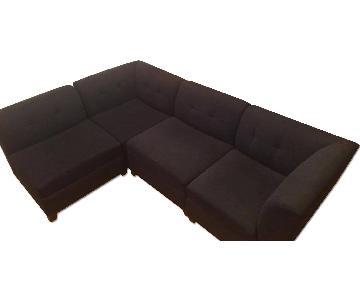 Raymour & Flanigan 4-Piece Microfiber Modular Sectional Sofa