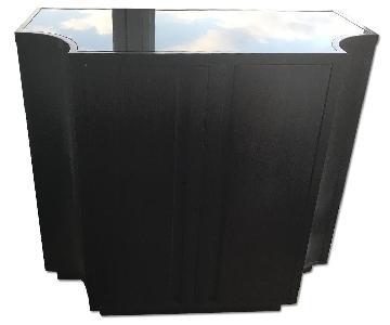 Crate & Barrel Wooden Bar Cabinet